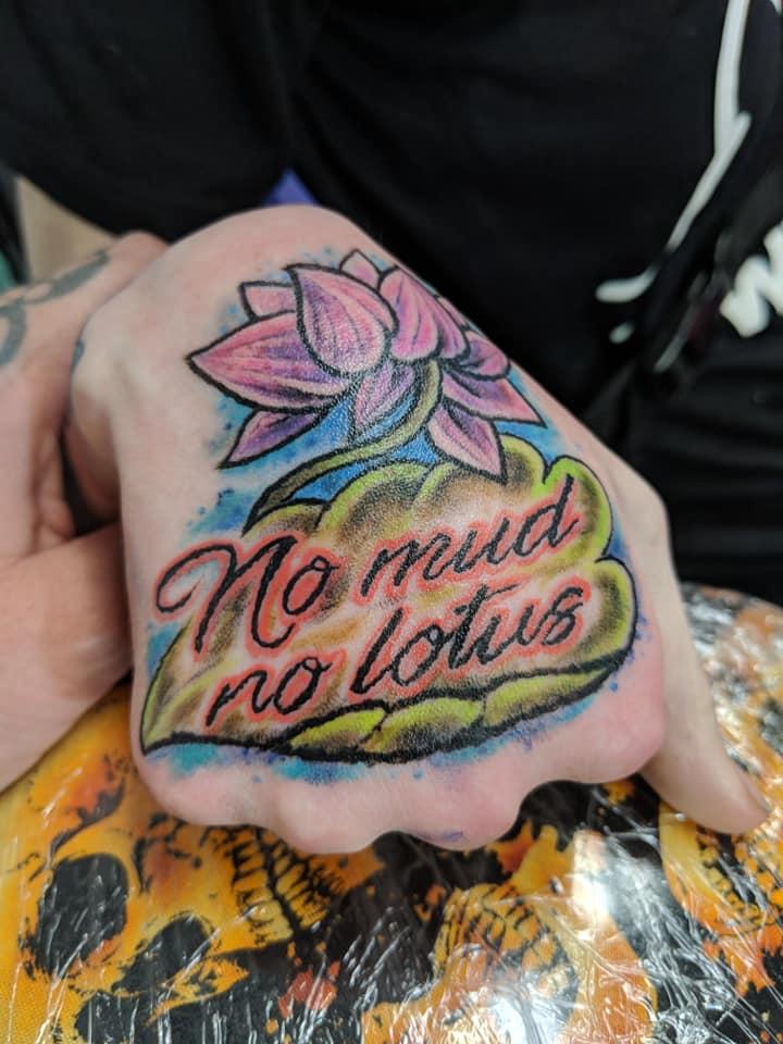 My beautiful hand tattoo by Candace Lyon.